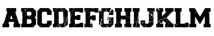 College Grunge Font LOWERCASE