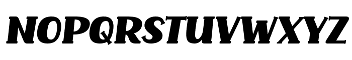 Common Ground Italic Font UPPERCASE