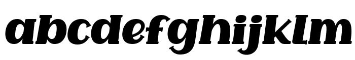 Common Ground Italic Font LOWERCASE