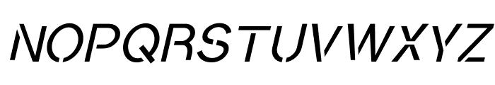 Conceptual Progressive S Slant Font UPPERCASE
