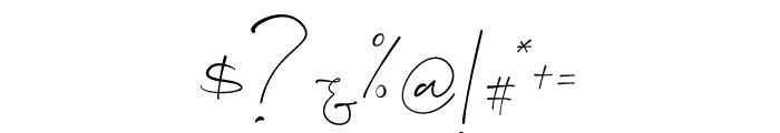Consuela Script Font OTHER CHARS