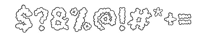 Cotton Cloud Font OTHER CHARS