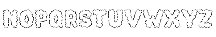 Cotton Cloud Font UPPERCASE