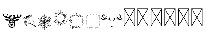 Crazy Serif Christmas Elements Font LOWERCASE