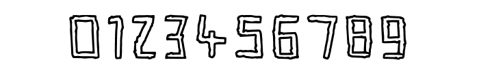 Crinkle Cut Outlined Font OTHER CHARS