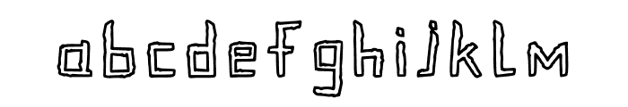 Crinkle Cut Outlined Font LOWERCASE