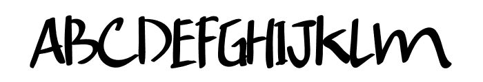 Cucumber Font UPPERCASE