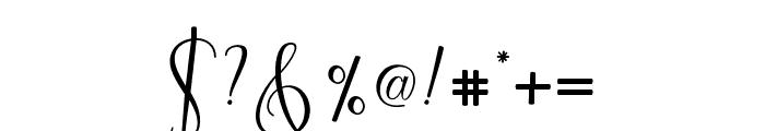 CynthiaScript Font OTHER CHARS