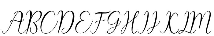 CynthiaScript Font UPPERCASE