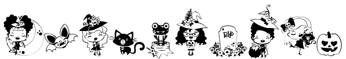 DBWhimsyWitch Font OTHER CHARS