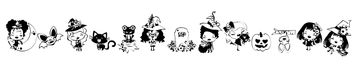 DBWhimsyWitch Font UPPERCASE