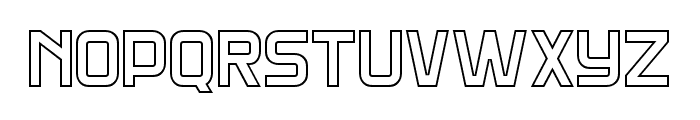 DNS Gibsons Two Bold Outline Font LOWERCASE