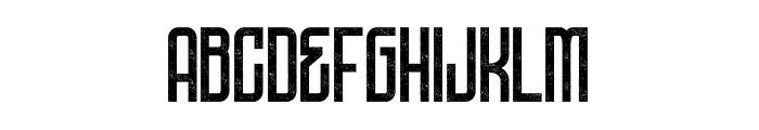 DNSGibsonsOne-SemiBoldRough Font UPPERCASE