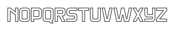 DNSGibsonsTwo-BoldOutline Font UPPERCASE