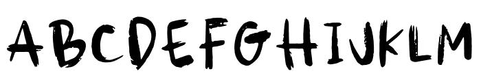 DTC Spooky Font LOWERCASE