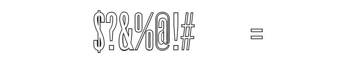 Dalena-Outline Font OTHER CHARS
