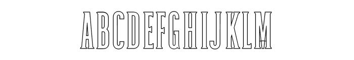 Dalena-Outline Font UPPERCASE