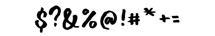 DalgonisBrush Font OTHER CHARS