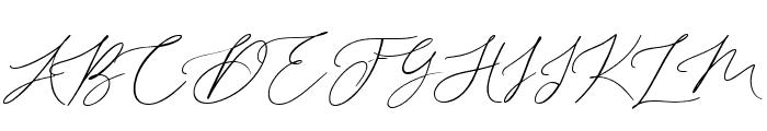 Dalton gardens swash right Font UPPERCASE