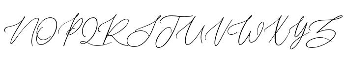 Daltongardensswashright Font UPPERCASE