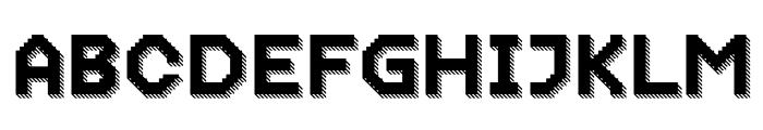 Dance Floor 3D Striped Font UPPERCASE