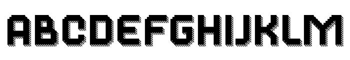 Dance Floor 3D Striped Font LOWERCASE