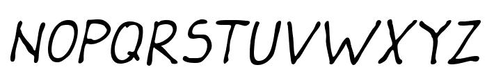 Darbog Italic Font UPPERCASE