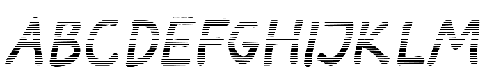 Darbog gradient Bold Italic Font LOWERCASE