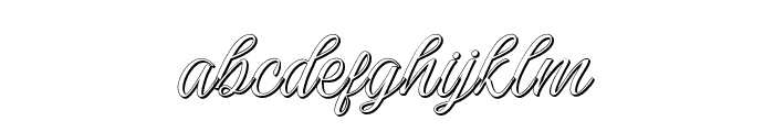 Darutashadow-Shadow Font LOWERCASE