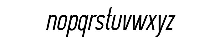 DavishNormalItalic-Regular Font LOWERCASE
