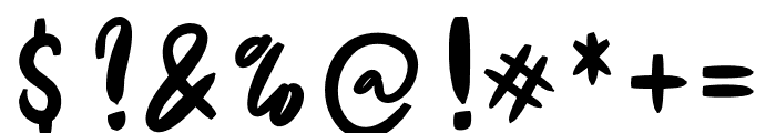 De Luxious Font OTHER CHARS