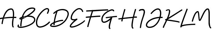 DeanOs-Script Font UPPERCASE