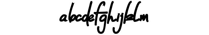 DeanOs-Script Font LOWERCASE