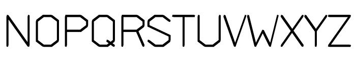 Deck regular Font UPPERCASE