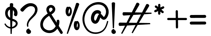 Deddyfont Font OTHER CHARS