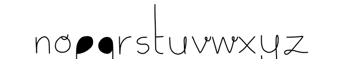 Delicate Font LOWERCASE