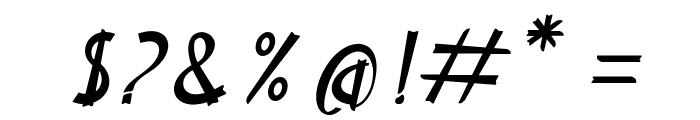 Delicious Italic Font OTHER CHARS
