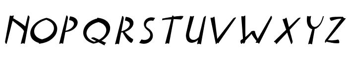 Delicious Italic Font UPPERCASE