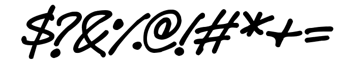 Delicious Scrawl Font OTHER CHARS