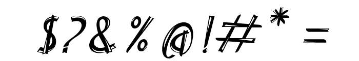Delicious inline italic Italic Font OTHER CHARS