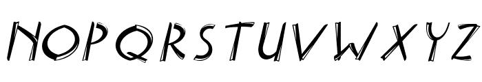Delicious inline italic Italic Font UPPERCASE