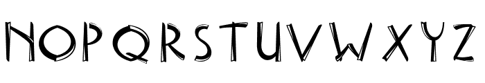 Delicious inline Font UPPERCASE