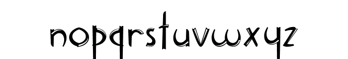 Delicious inline Font LOWERCASE