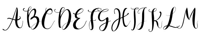 Deliciously Regular Font UPPERCASE
