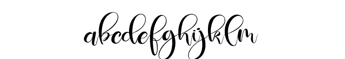 Deliciously Regular Font LOWERCASE