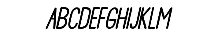 DelightSansSlant Font UPPERCASE
