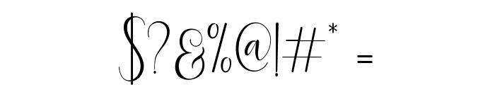 DelightScript Font OTHER CHARS