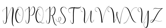 DelightScript Font UPPERCASE