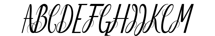 Delightful Font UPPERCASE