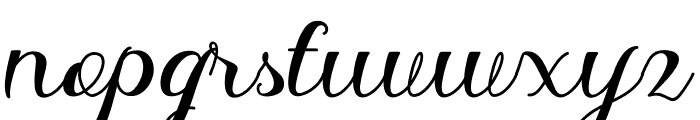 Delima Font LOWERCASE